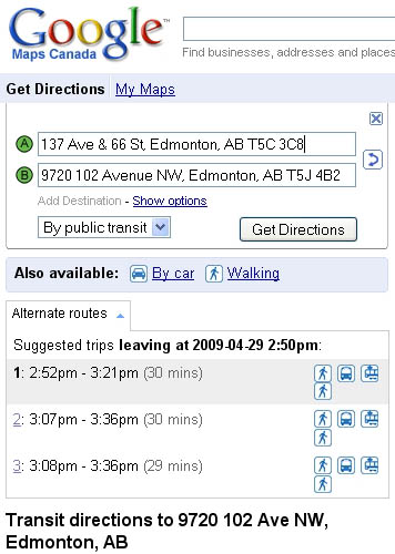 google-transit-edmonton The other thing that's made transit planning easier