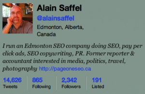 @alainsaffel Twitter stats after cutting who I was following