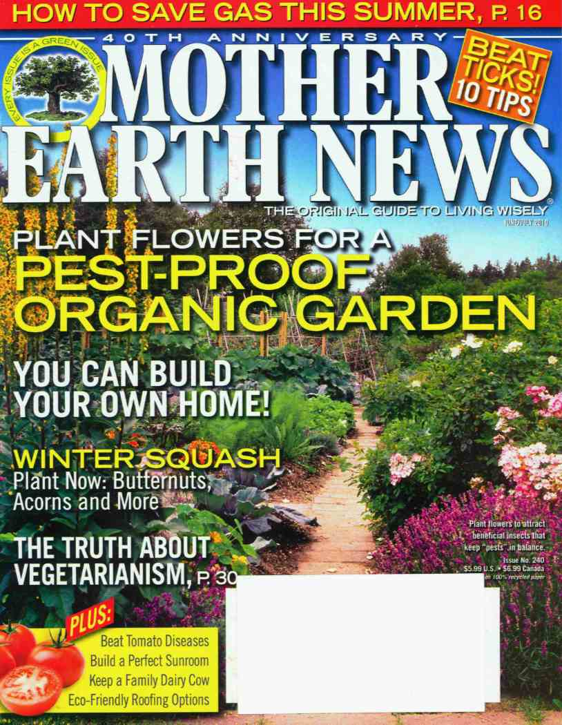 Mother Earth News article: The truth about vegetarianism